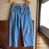SS13-淺色丹寧寬褲-L(現貨)