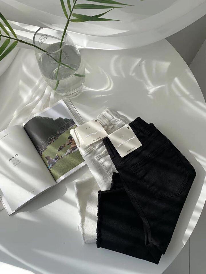 A200417-五分彈性丹寧褲 黑M(現貨)