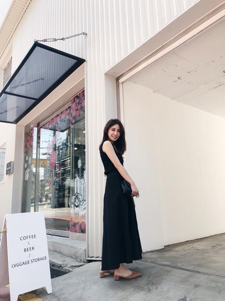 SJ02-黑色麻棉寬褲裙(現貨)