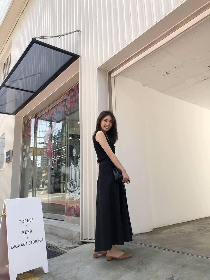 **A9408-麻棉寬褲裙-黑(現貨)