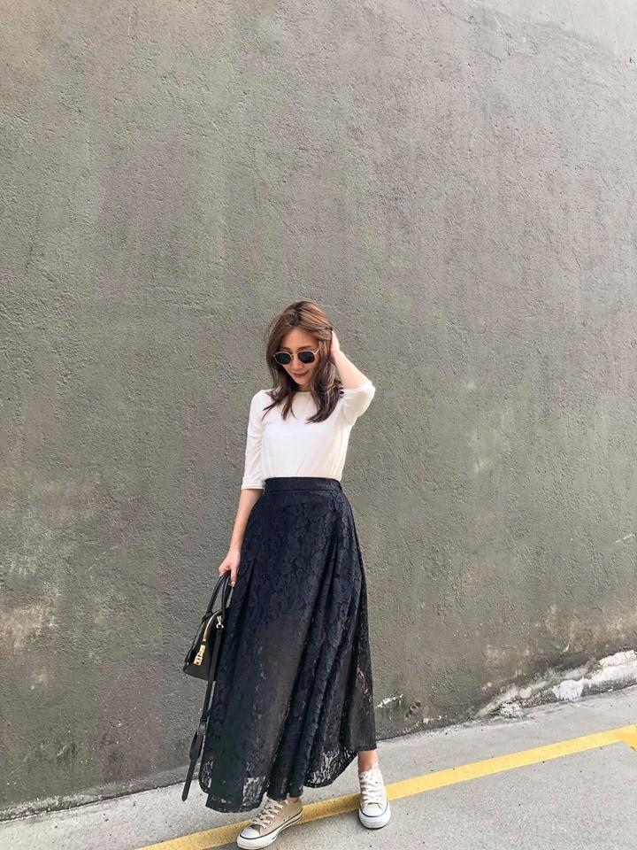 A9411-蕾絲長圓裙(預購)