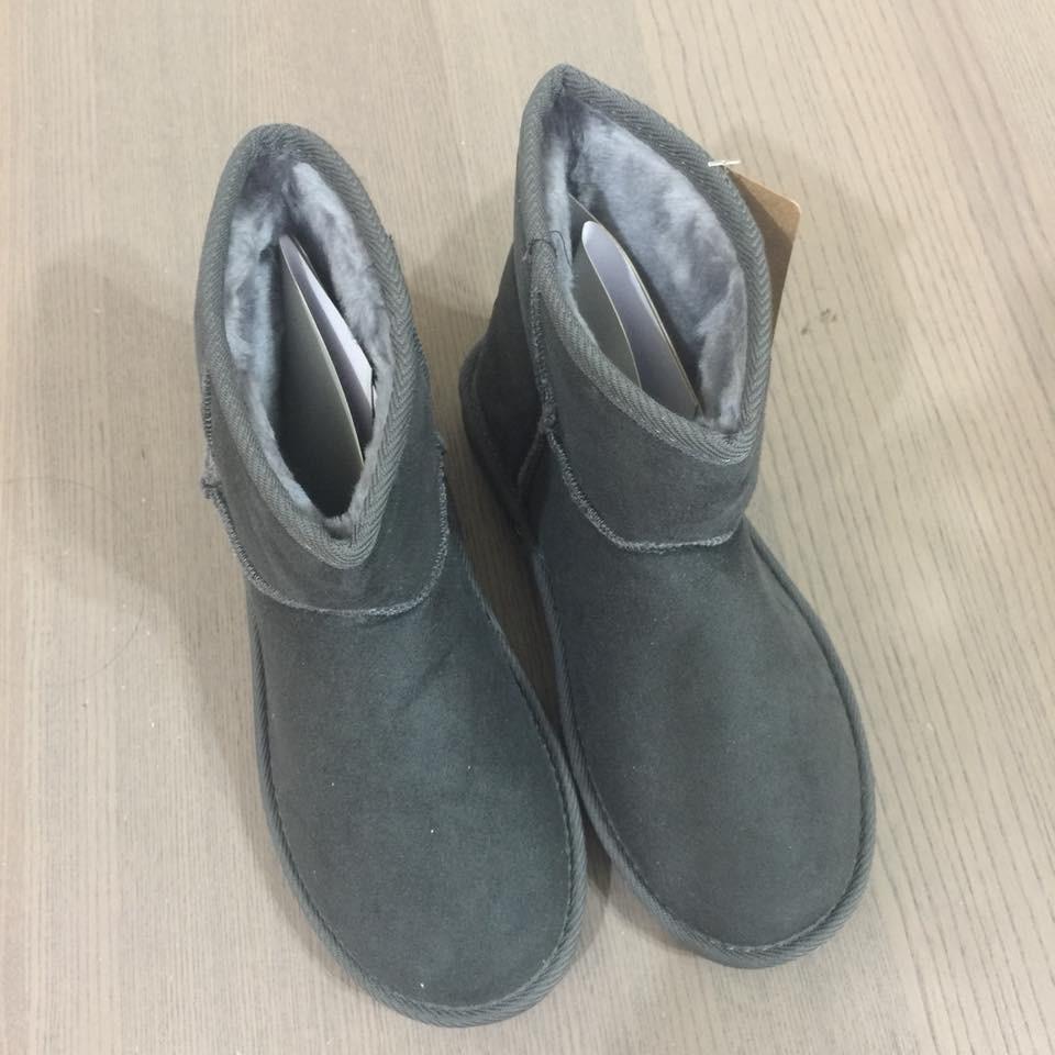 **FF90-韓國OLLIE雪靴-灰M(筒高13跟厚2)(現貨)