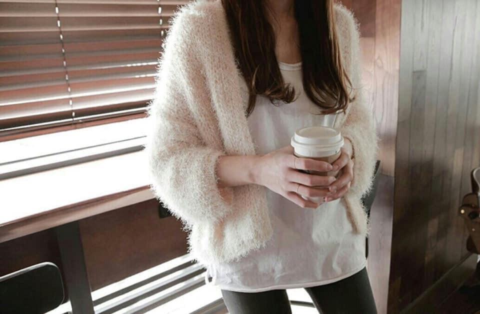 J190101-慵懶毛毛外套-灰(現貨)