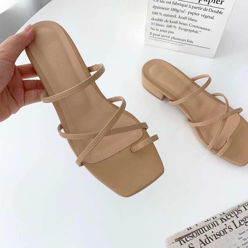J9610-細帶低跟涼鞋- (現貨)