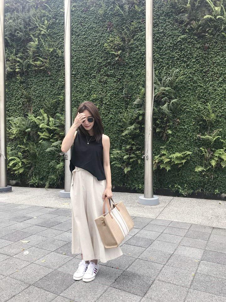 JS40-麻質寬褲裙-深 (現貨)