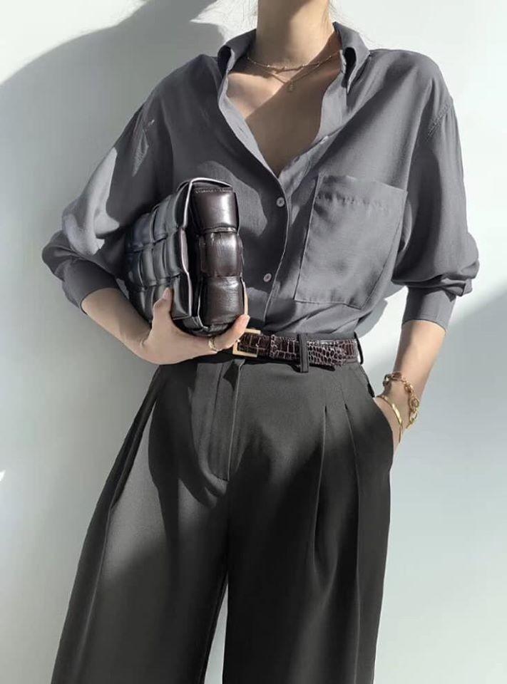 M200507-素面微光澤感襯衫 (現貨)