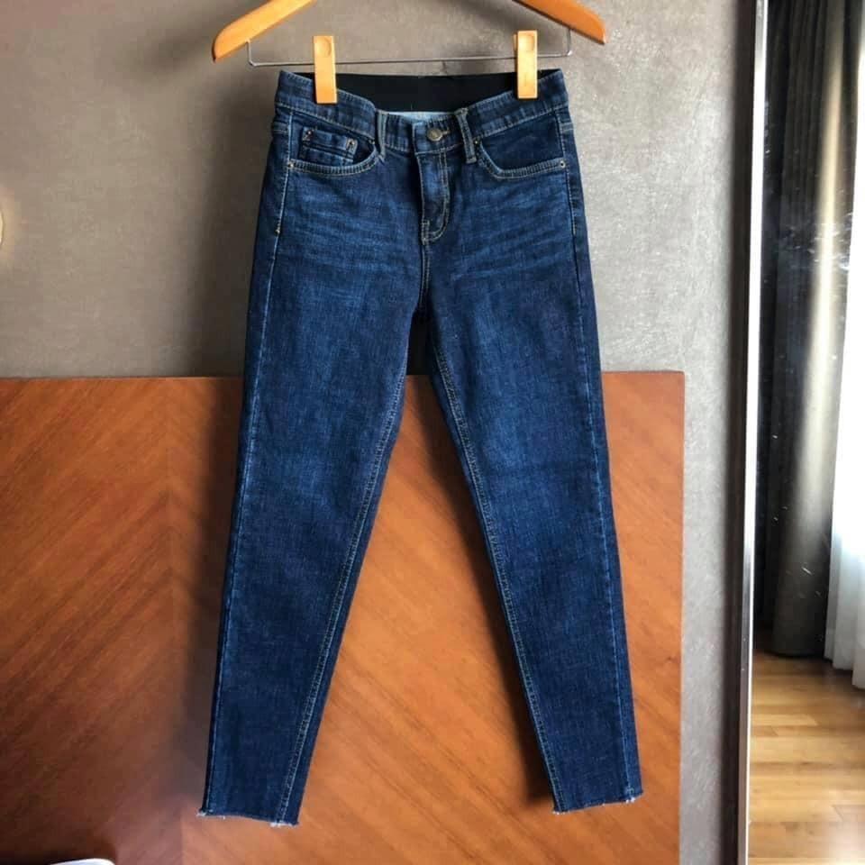 M9336-顯瘦合身丹寧褲(深藍) (預購)