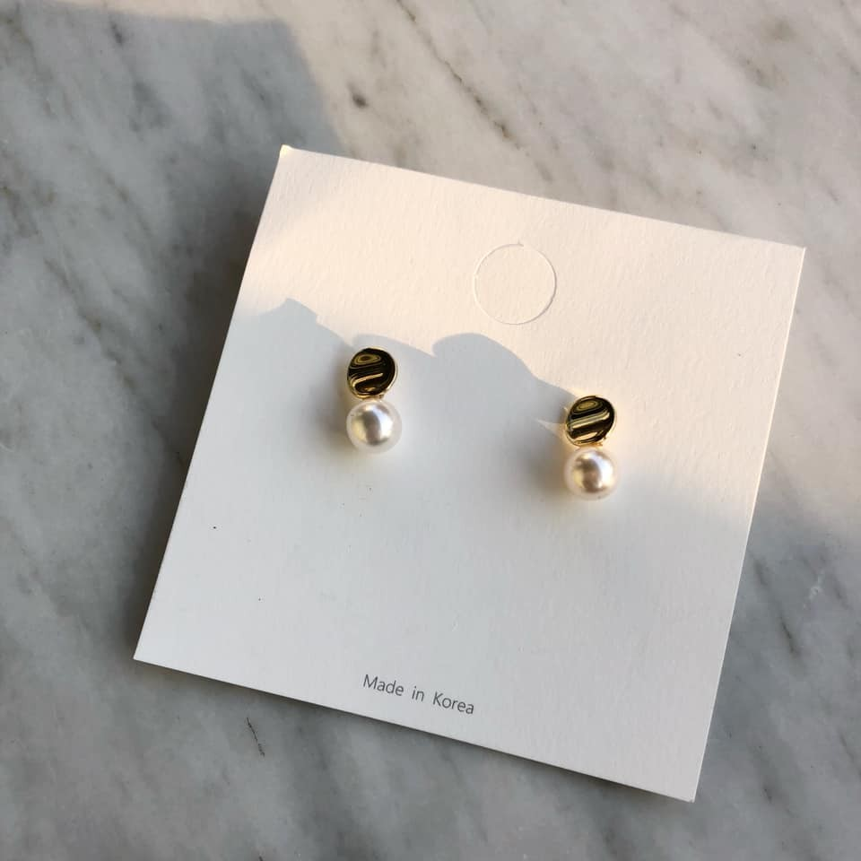 N1141-銀飾珍珠(現貨)