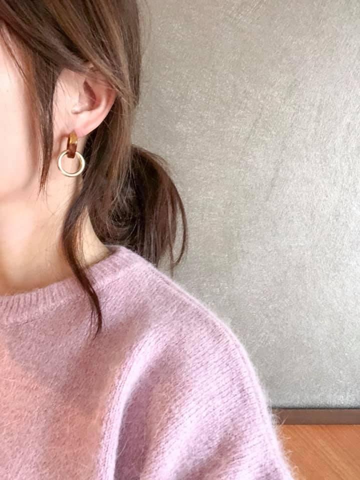 N1147-圓形豹紋金屬耳環(現貨)