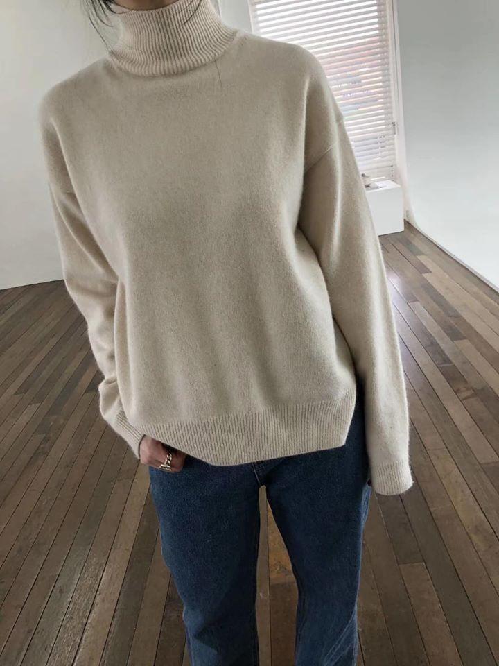 N91120-半高領羊毛上衣 (預購)