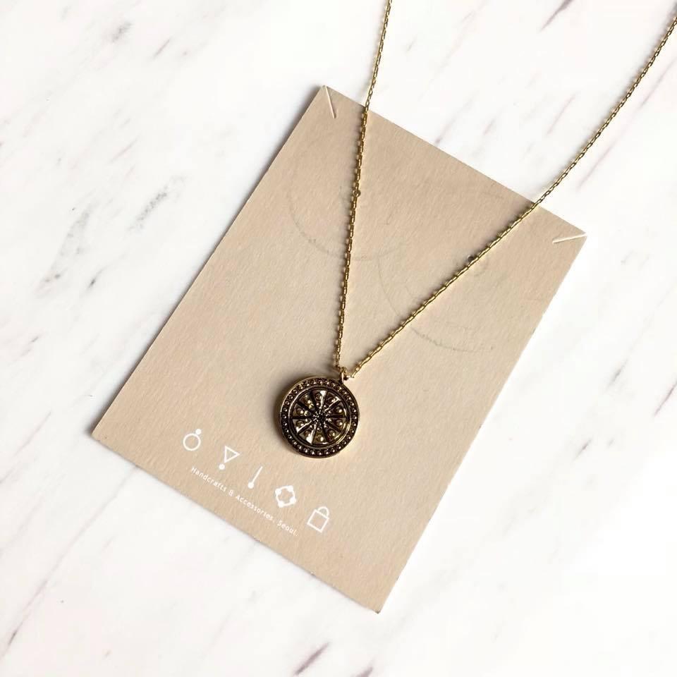 O1053-羅盤造型項鍊(現貨)