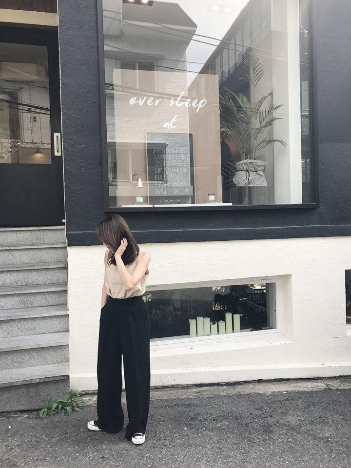 S0912-厚雪紡長腿褲-S(現貨)