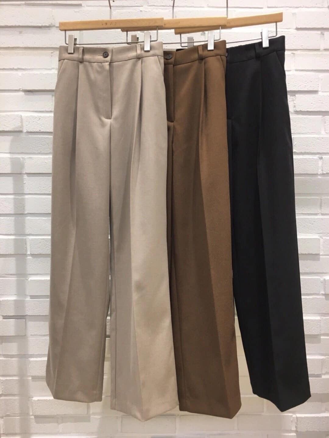 S200921-厚雪紡直筒寬褲 (現貨)