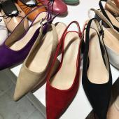 H41-粗跟尖頭跟鞋(三色)(預購)