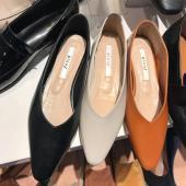 H43-皮質款平底鞋(三色)(預購)