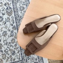 A200410-麂皮穆勒鞋 黑23/黃23.5(現貨)