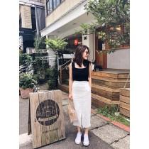 JS29-白色流蘇邊直裙(現貨)