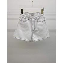 A210413-車線白色丹寧短褲 (現貨)