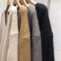 D201212-V領質感毛衣 -黑 (現貨)