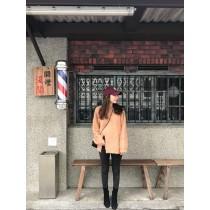 FF19-微領開衩毛衣-橘膚(現貨)