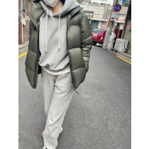 J210129-連帽舖毛套裝-灰棉褲 (現貨)