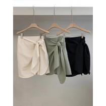 M200511-綁結氣質短裙 (現貨)