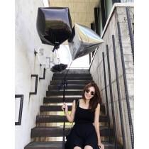 M9510-飄飄短裙-黑(預購)