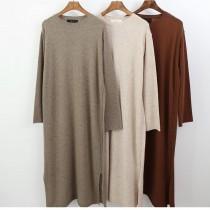 N1123-舒服羊毛長版上衣(預購)