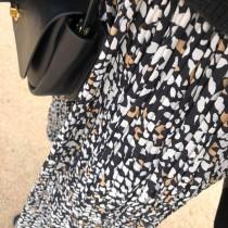 N91115-腰鬆緊雪紡裙 (預購)
