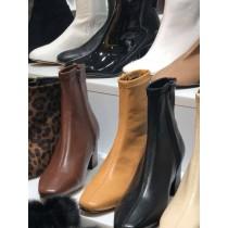 O1044-皮質跟靴(預購)