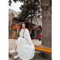 O91025-細肩雪紡洋裝-白 (現貨)