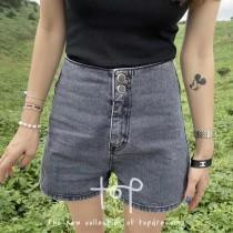 S200914-丹寧高腰短褲 (現貨)