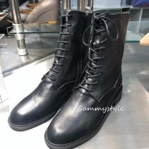 S9906 - 手工牛皮綁帶靴 (預購)